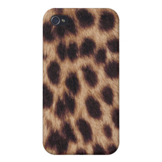 Surface of spotted feline iPhone 4 cover