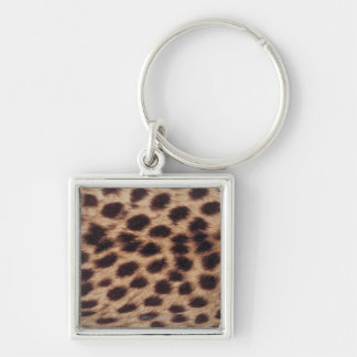 Surface of spotted feline key ring