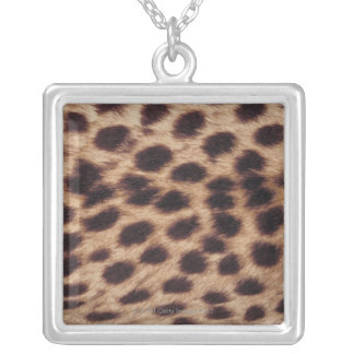 Surface of spotted feline silver plated necklace