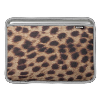 Surface of spotted feline sleeve for MacBook air