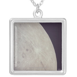 Surface of the Moon 3 Silver Plated Necklace