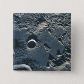 Surface of the Moon 5 15 Cm Square Badge