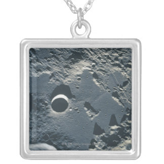 Surface of the Moon 5 Silver Plated Necklace