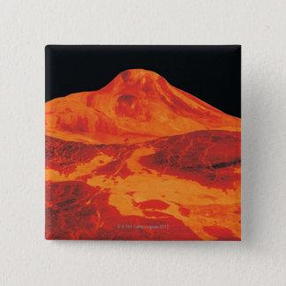 Surface of Venus 15 Cm Square Badge