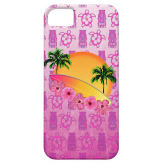 Surfboard and Hibiscus Flowers iPhone 5 Cover