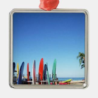 Surfboard Christmas Ornament