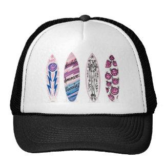 Surfboard Snapback Mesh Hats