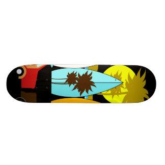 Surfboards Beach Bum Surfing Hippie Vans 18.1 Cm Old School Skateboard Deck