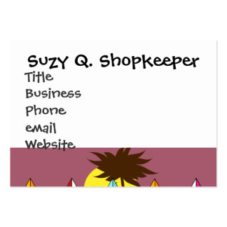 Surfboards Beach Bum Surfing Hippie Vans Pack Of Chubby Business Cards