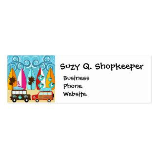 Surfboards Beach Bum Surfing Hippie Vans Pack Of Skinny Business Cards
