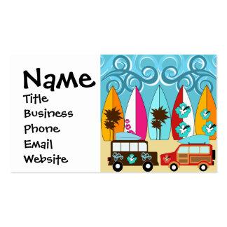 Surfboards Beach Bum Surfing Hippie Vans Pack Of Standard Business Cards