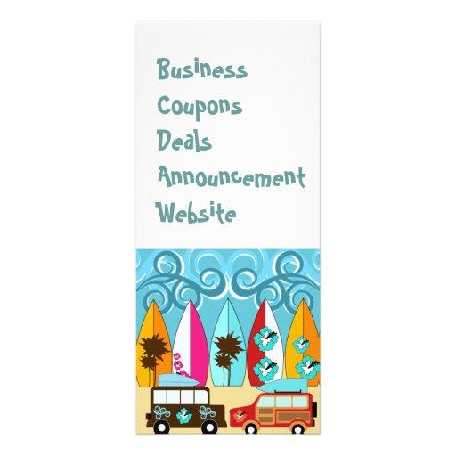 Surfboards Beach Bum Surfing Hippie Vans Custom Rack Card