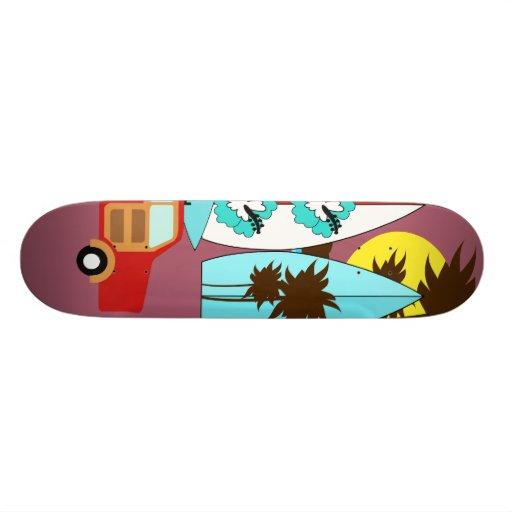 Surfboards Beach Bum Surfing Hippie Vans Skateboard