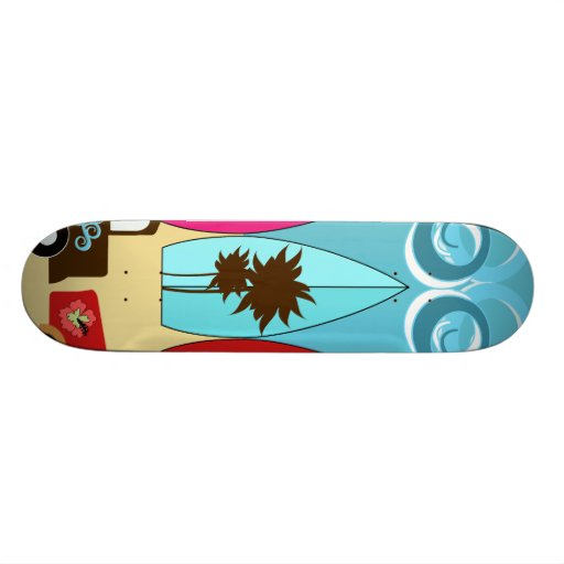 Surfboards Beach Bum Surfing Hippie Vans Skateboard Decks