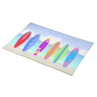 Surfboards Beach Placemat