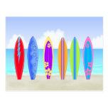Surfboards Beach Postcard