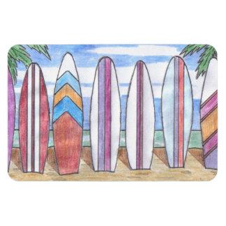 SURFBOARDS flexi-magnet Rectangular Photo Magnet