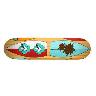 Surfboards on the Boardwalk Summer Beach Theme Custom Skate Board