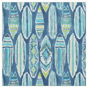SURFBORTS Watercolor Tiki Surfboard Pattern Fabric