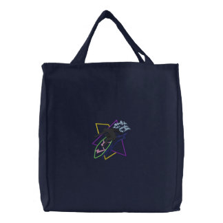 Surfer Abstract Embroidered Bag