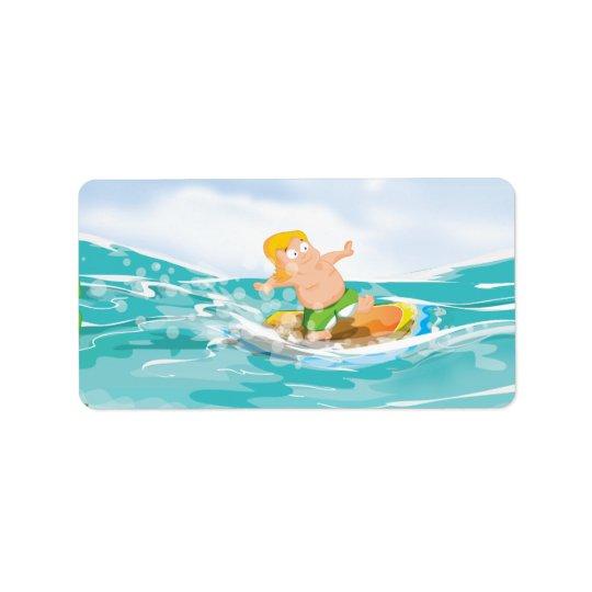 Surfer Address Label
