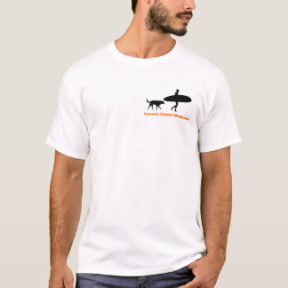 Surfer and dog in color T-Shirt