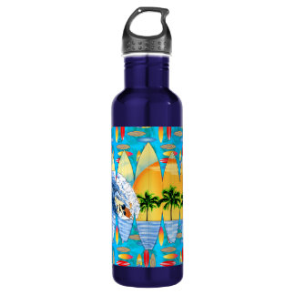 Surfer And Surfboards 710 Ml Water Bottle