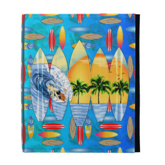 Surfer And Surfboards iPad Folio Cases