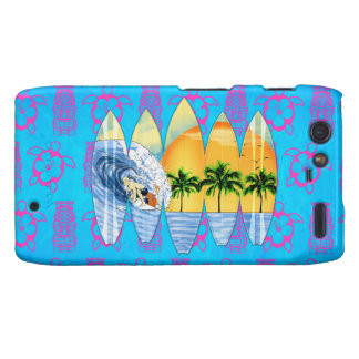 Surfer And Surfboards Droid RAZR Covers