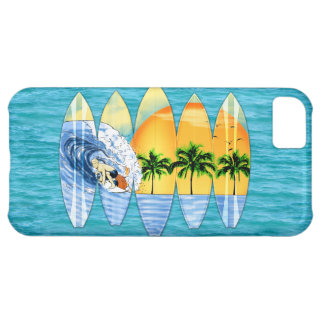 Surfer And Surfboards iPhone 5C Cases