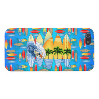 Surfer And Surfboards Cover For iPhone 5/5S