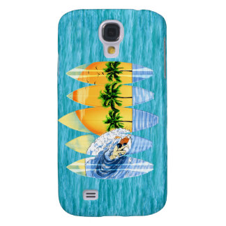 Surfer And Surfboards Galaxy S4 Case