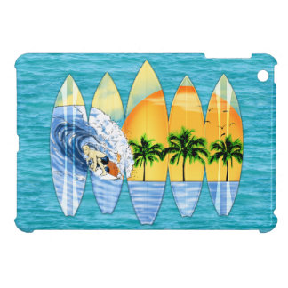 Surfer And Surfboards iPad Mini Cover