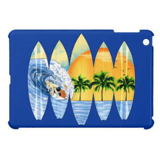Surfer And Surfboards iPad Mini Case