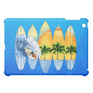 Surfer And Surfboards iPad Mini Cases