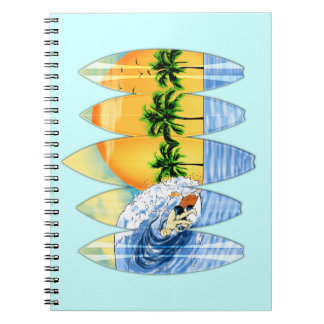 Surfer And Surfboards Notebook