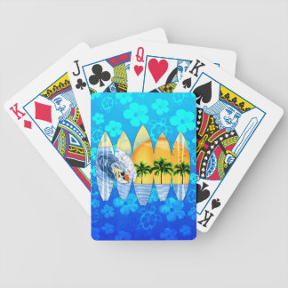 Surfer And Surfboards Playing Cards