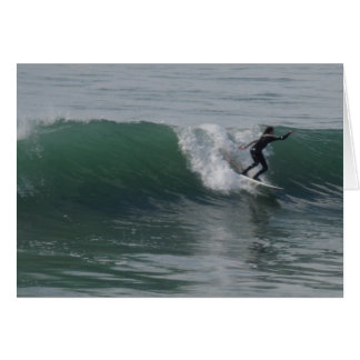 Surfer at Moonstone Beach, Cambria Greeting Card