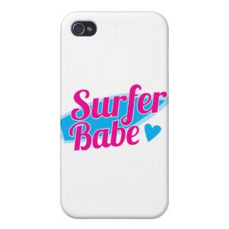 Surfer Babe ladies iPhone 4 Cases