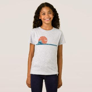 Surfer Beach Vintage Style Girls Shirt
