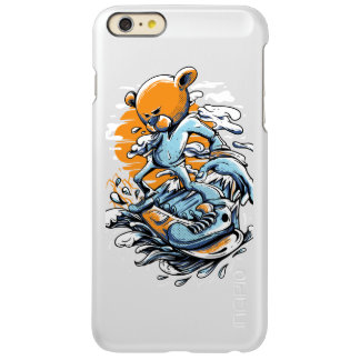 Surfer-Bear Silver iPhone 6s plus iPhone 6 Plus Case