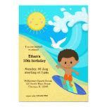 Surfer boy 5x7 paper invitation card