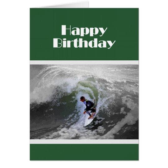 Surfer Boy Birthday Card