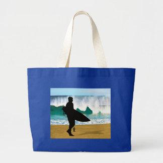 Surfer by Crashing Tube Jumbo Tote Bag