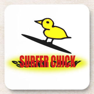Surfer Chick Beverage Coaster