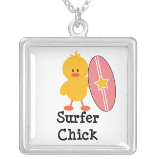 Surfer Chick Sterling Silver Necklace