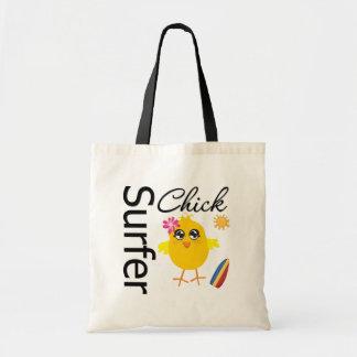 Surfer Chick Budget Tote Bag