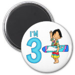 Surfer Dude 3rd Birthday Fridge Magnets