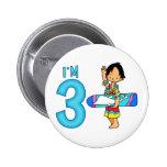 Surfer Dude 3rd Birthday Pins