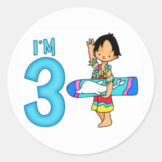 Surfer Dude 3rd Birthday Sticker